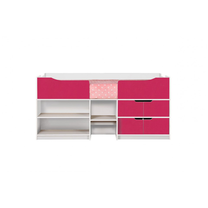 Paddington-cabin-bed-pink-and-white-front-on