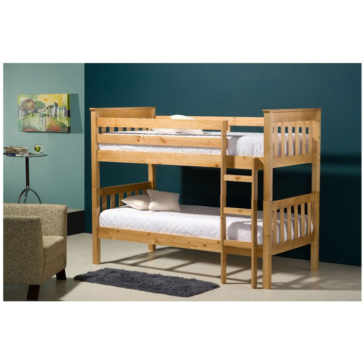 seattle pine bunk bed room setting