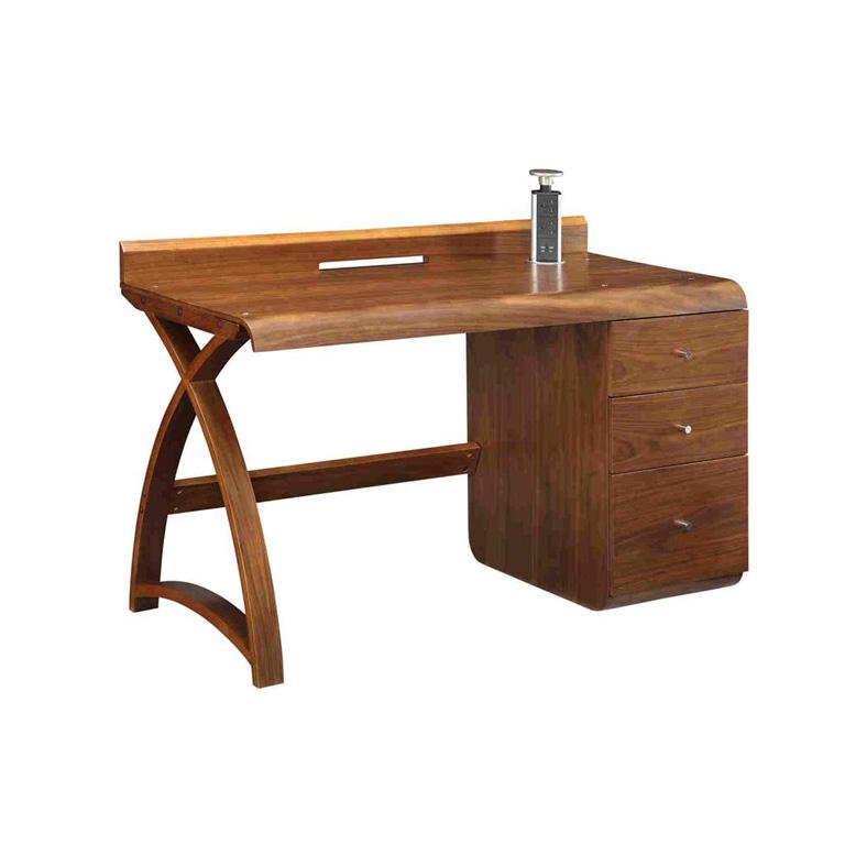 Santiago-Walnut-Pedestal-Desk