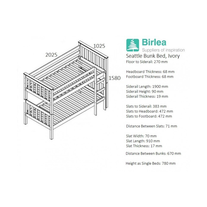 Seattle-bunk-bed-dimensions