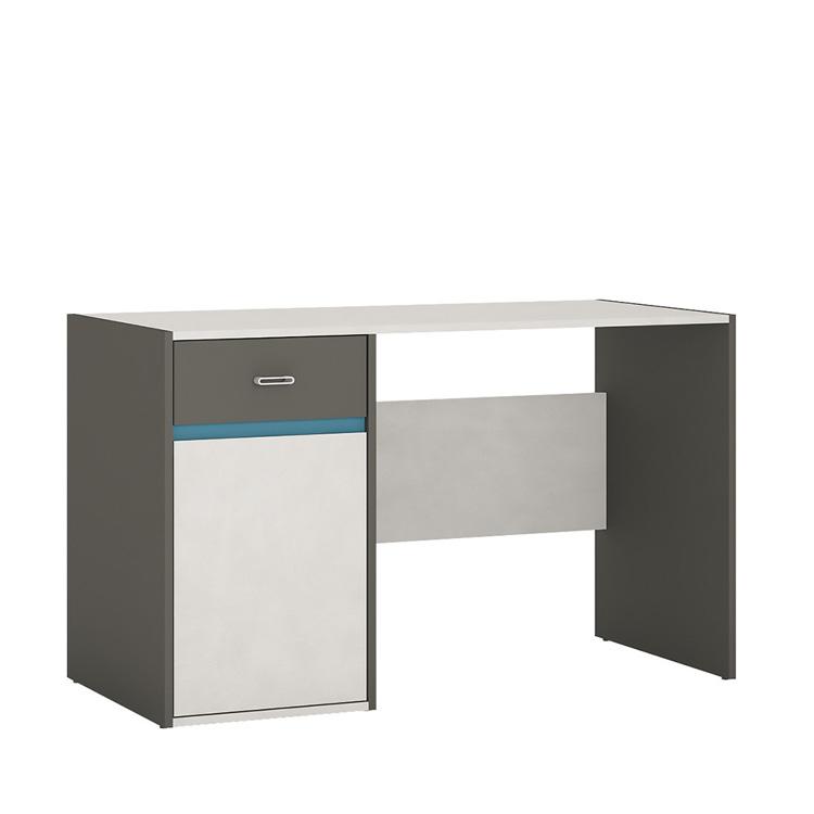 Space-Desk-Grey-1-door-1-drawer-blue-trim