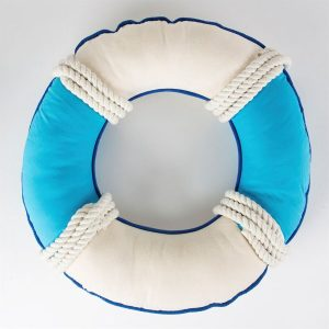 Welcome On Board Ring Nautical Cushion Back