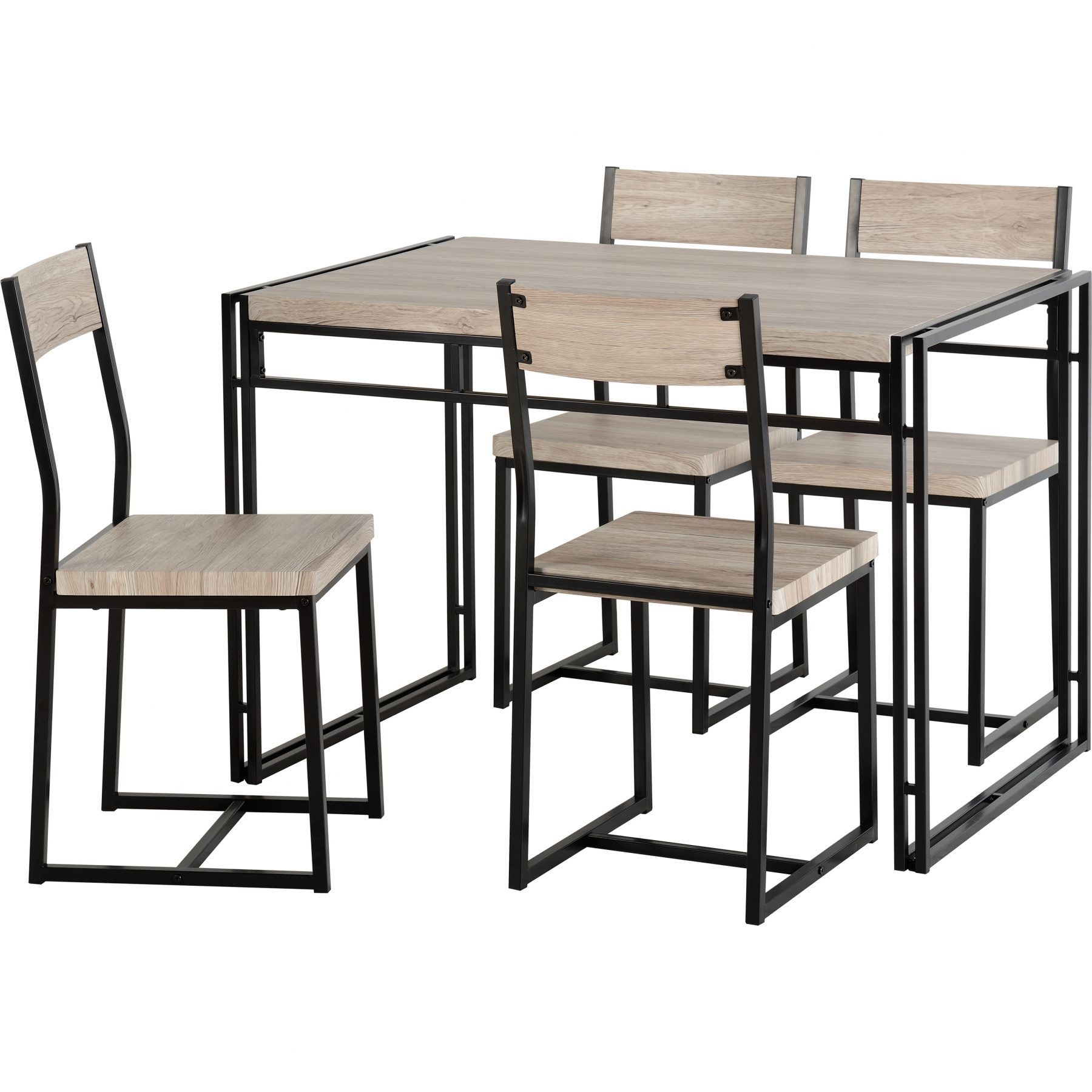 Warwick Oak Effect Dining Set with 4 Chairs