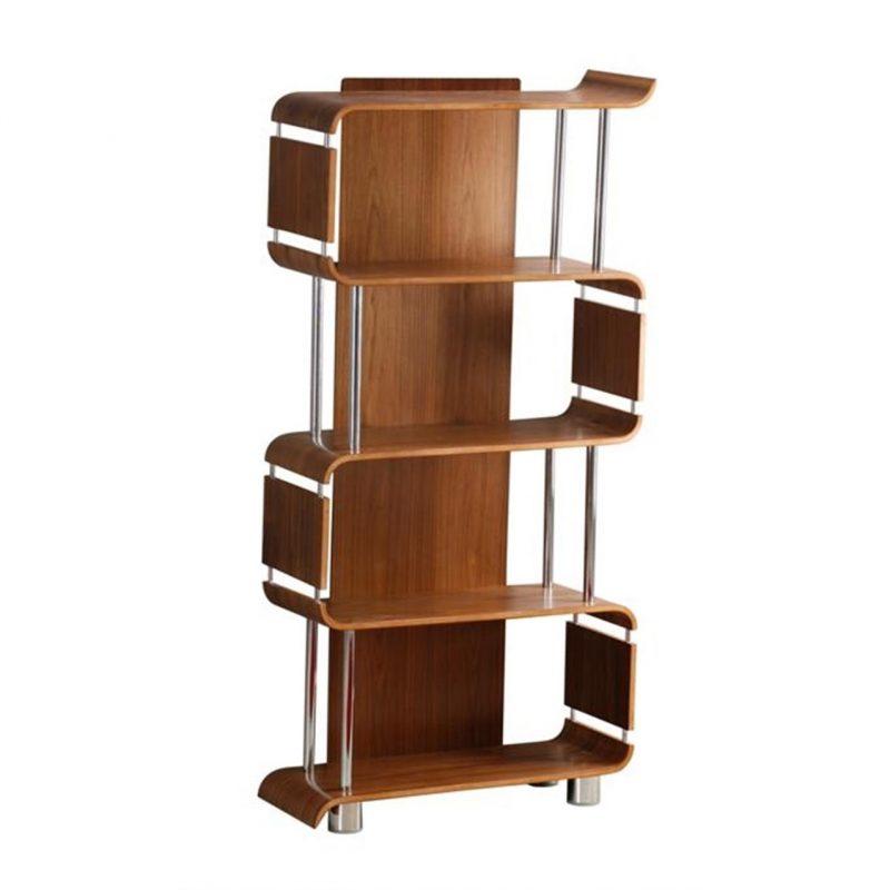 bali walnut bookcase