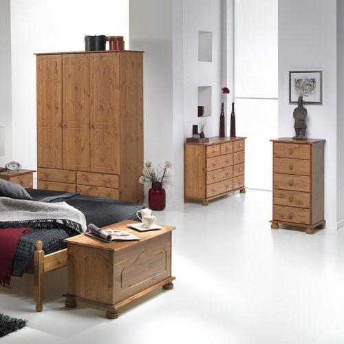 copenhagen-3-door,-4-drawer-pine-bedroom-set-1