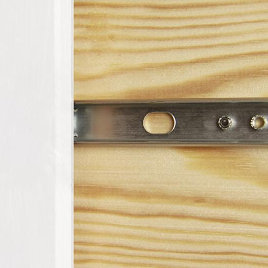 copenhagen white drawer runner detail