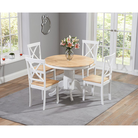 Ashley Round Dining Table with 4 Dining Chairs