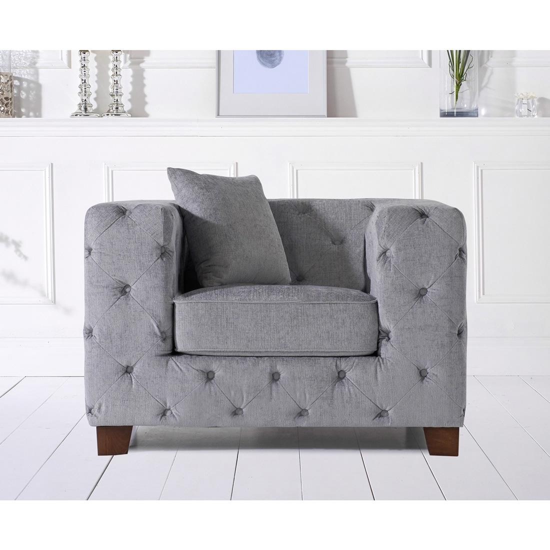 Fordham Grey Plush Armchair