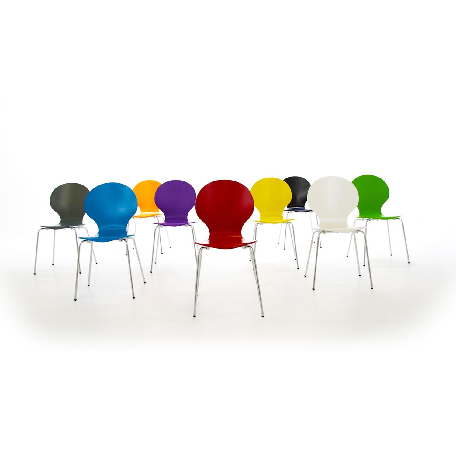Hugo Dining Chairs Set Of 1, 2, 4, 6 or 8 - Various Colours (Colour: Maple, Number of Chairs: 6)