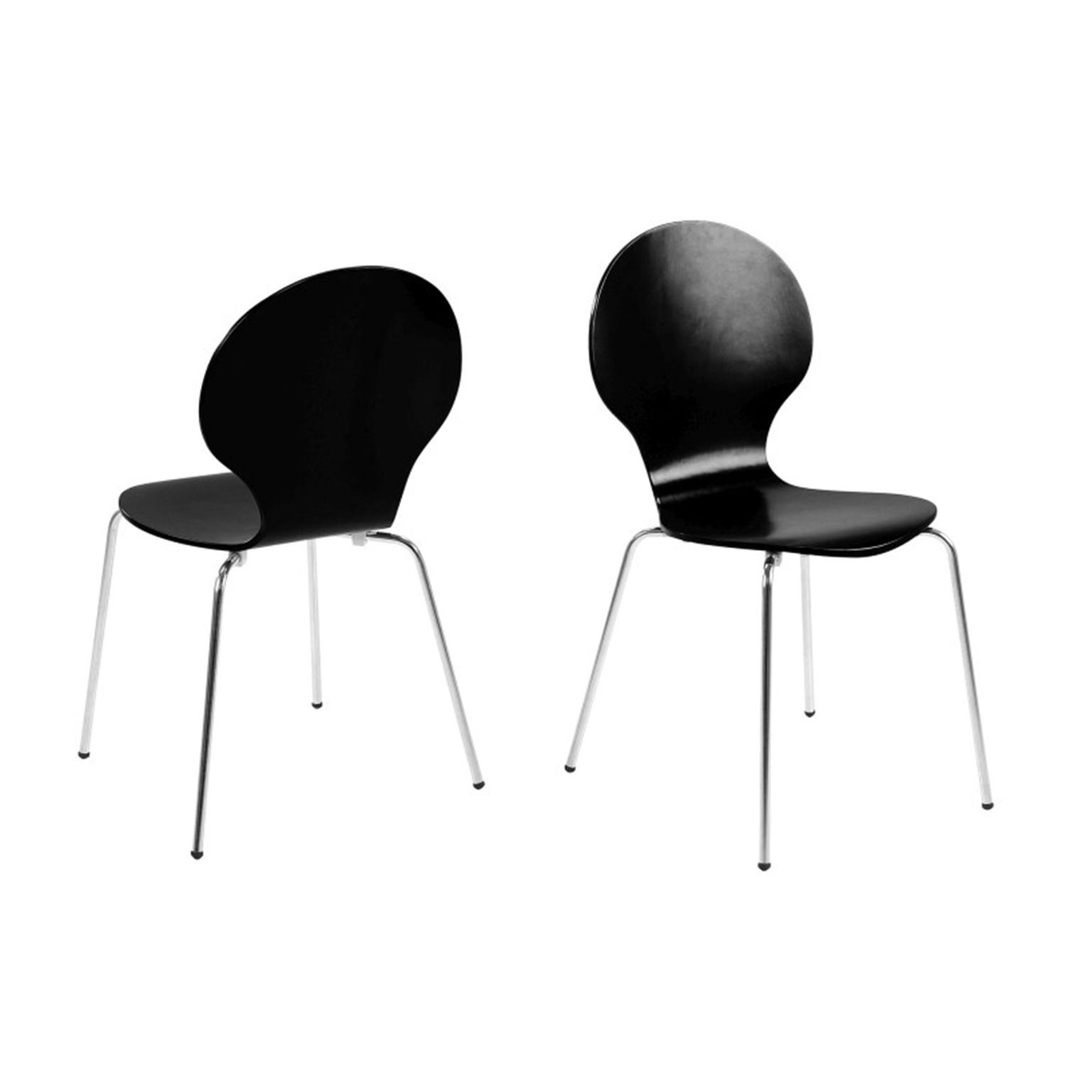 Hugo Dining Chairs Set Of 1, 2, 4, 6 or 8 - Various Colours (Colour: Black, Number of Chairs: 4)