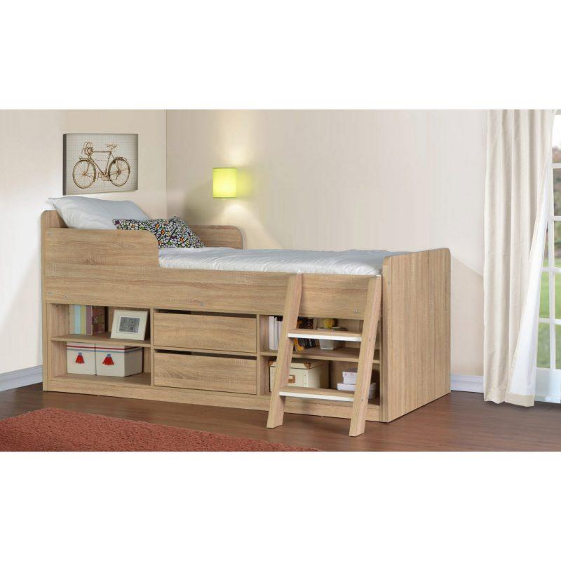 Felix low sleeper bed sonoma oak effect