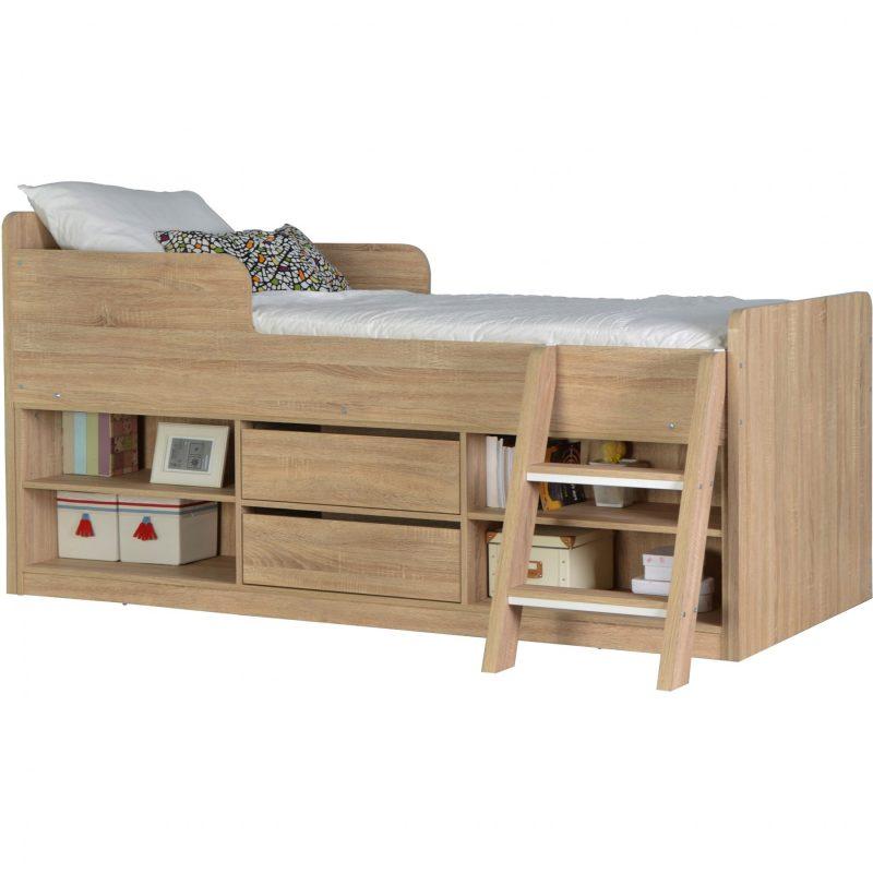 Felix low sleeper bed sonoma oak effect 1