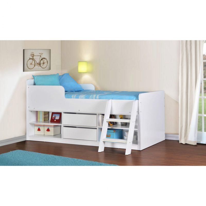 Felix low sleeper bed white