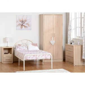 Nova single bed white room setting