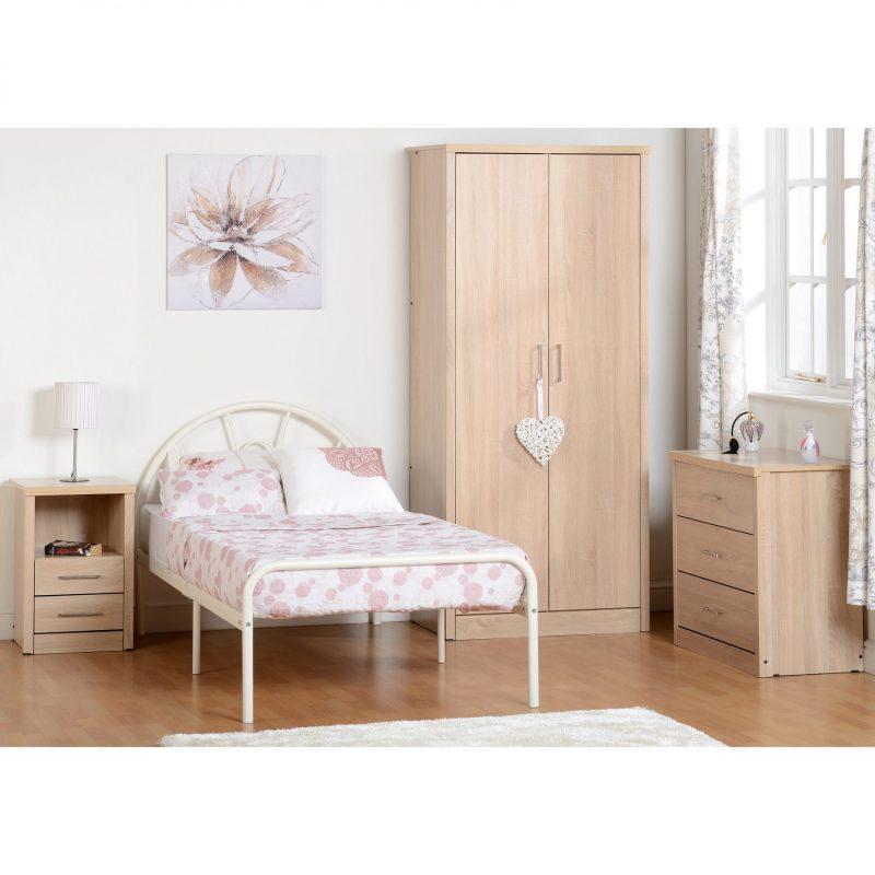 Nova single bed white room setting