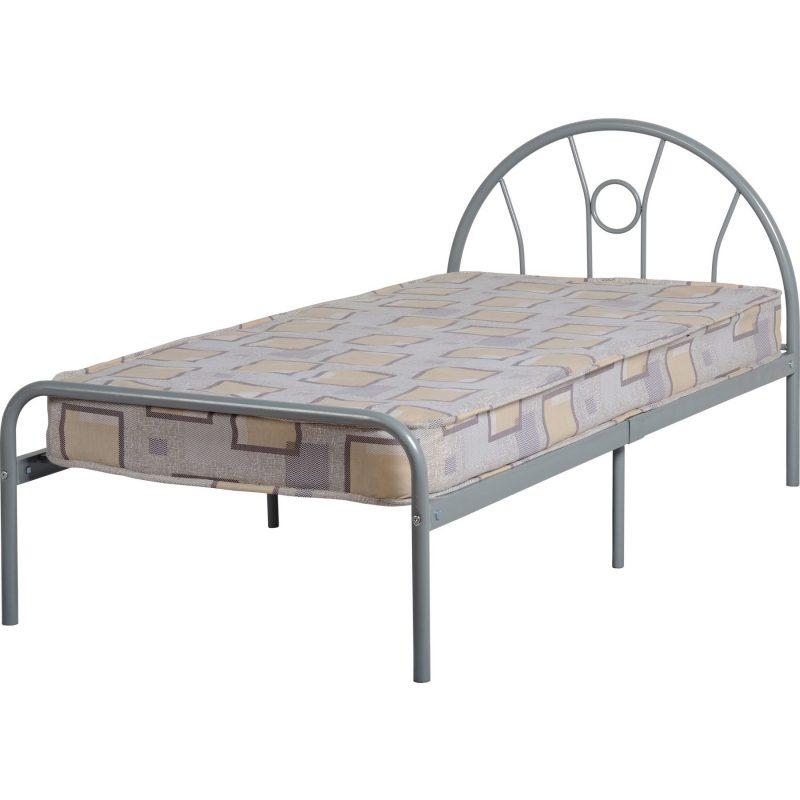 Nova silver single bed