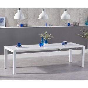 Henry extending white high gloss 6-10 seat dining table 174-264 cm