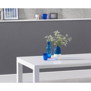 Henry extending white high gloss dining table 174-264 cm detail