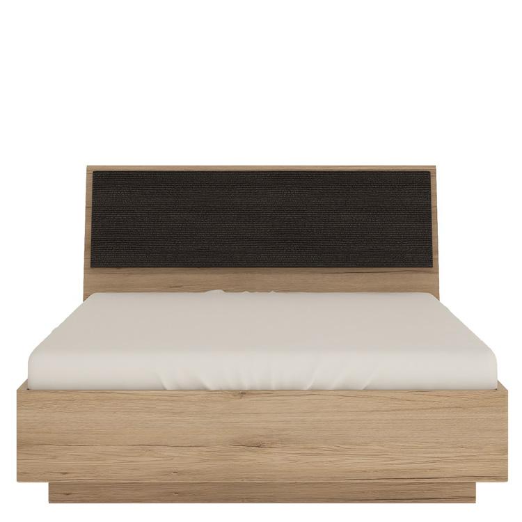 Metro oak effect ottoman bed