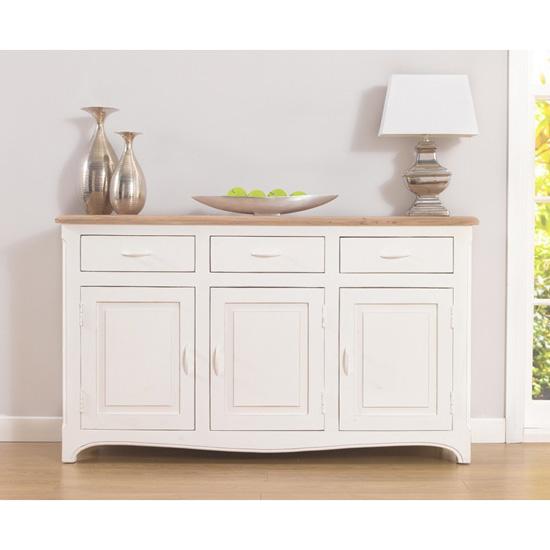 Sienna Sideboard Ivory - 3 door 3 drawer