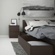 Pello Mahogany Bed With Drawers Side