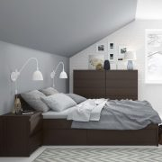 Pello Mahogany Bed With Drawers