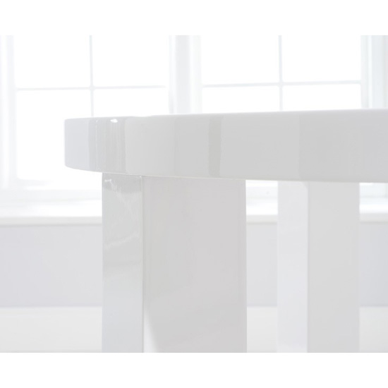 Luna white high gloss round dining table 4 seat 1
