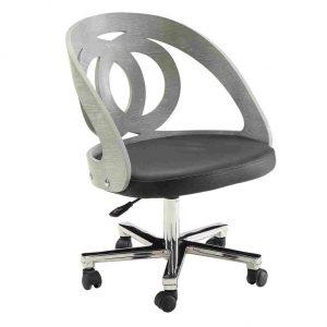 curve office chair grey swivel