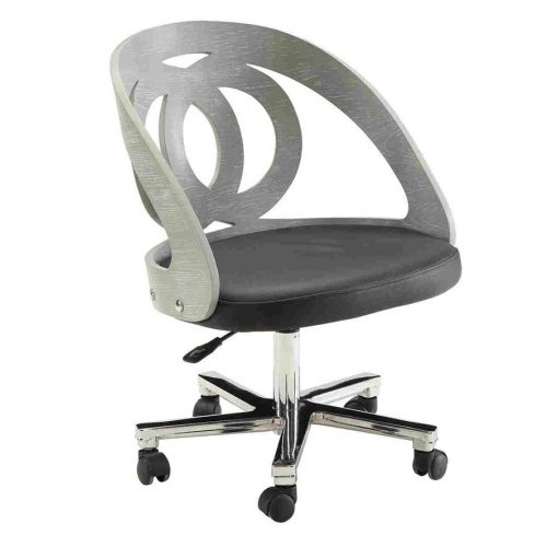 curve office chair grey swivel