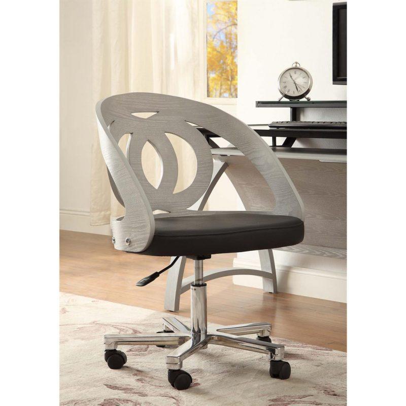 curve office chair grey swivel 1