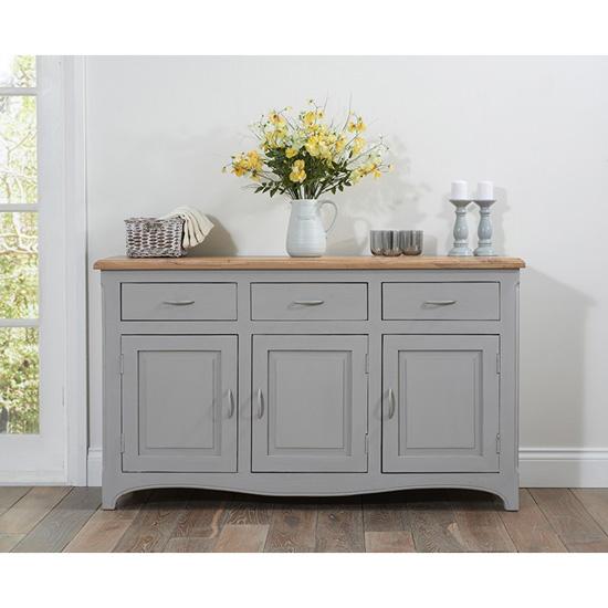 Sienna Grey Sideboard - 3 doors 3 drawers