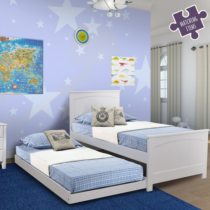 Willow Bed Integrated Trundle Bed