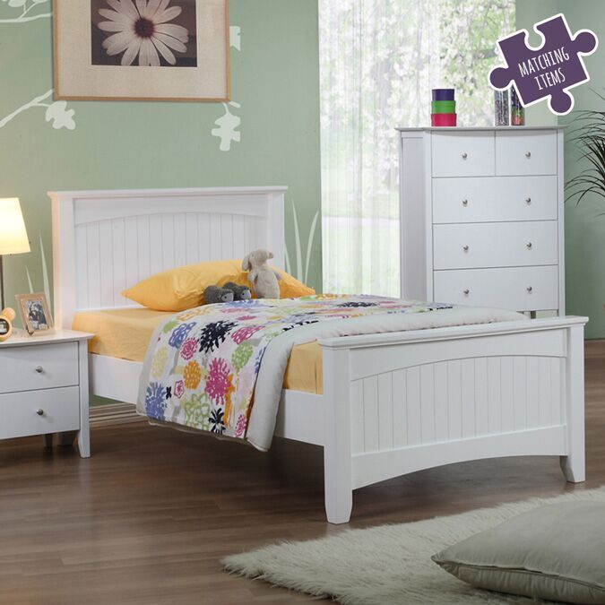 willow kids white single bed frame children 39 s beds fads. Black Bedroom Furniture Sets. Home Design Ideas