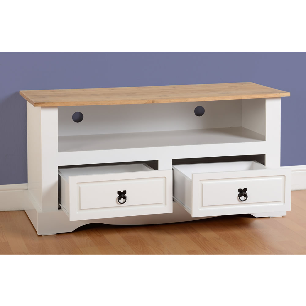Corona TV Unit - White/Pine