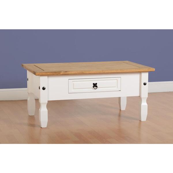 corona white coffee table