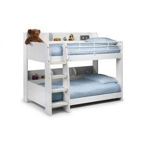 Domino Bunk Bed With Shelving White