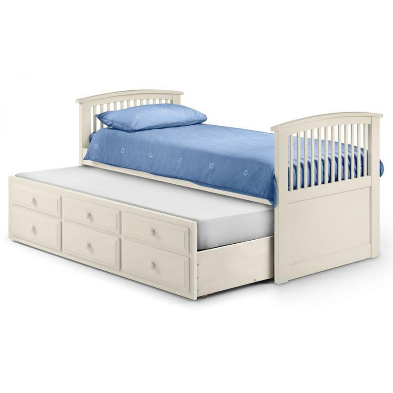Hornblower Stone White Bed