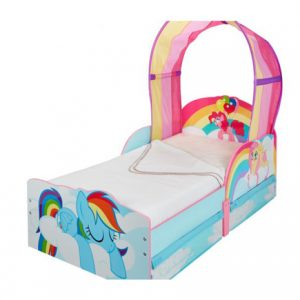 The My little Pony Toddler Canopy Bed with Storage is Snug