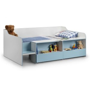 Salou Low Sleeper Kids Storage Bed Blue Blue