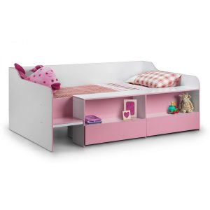 Salou Low Sleeper Kids Storage Bed Pink