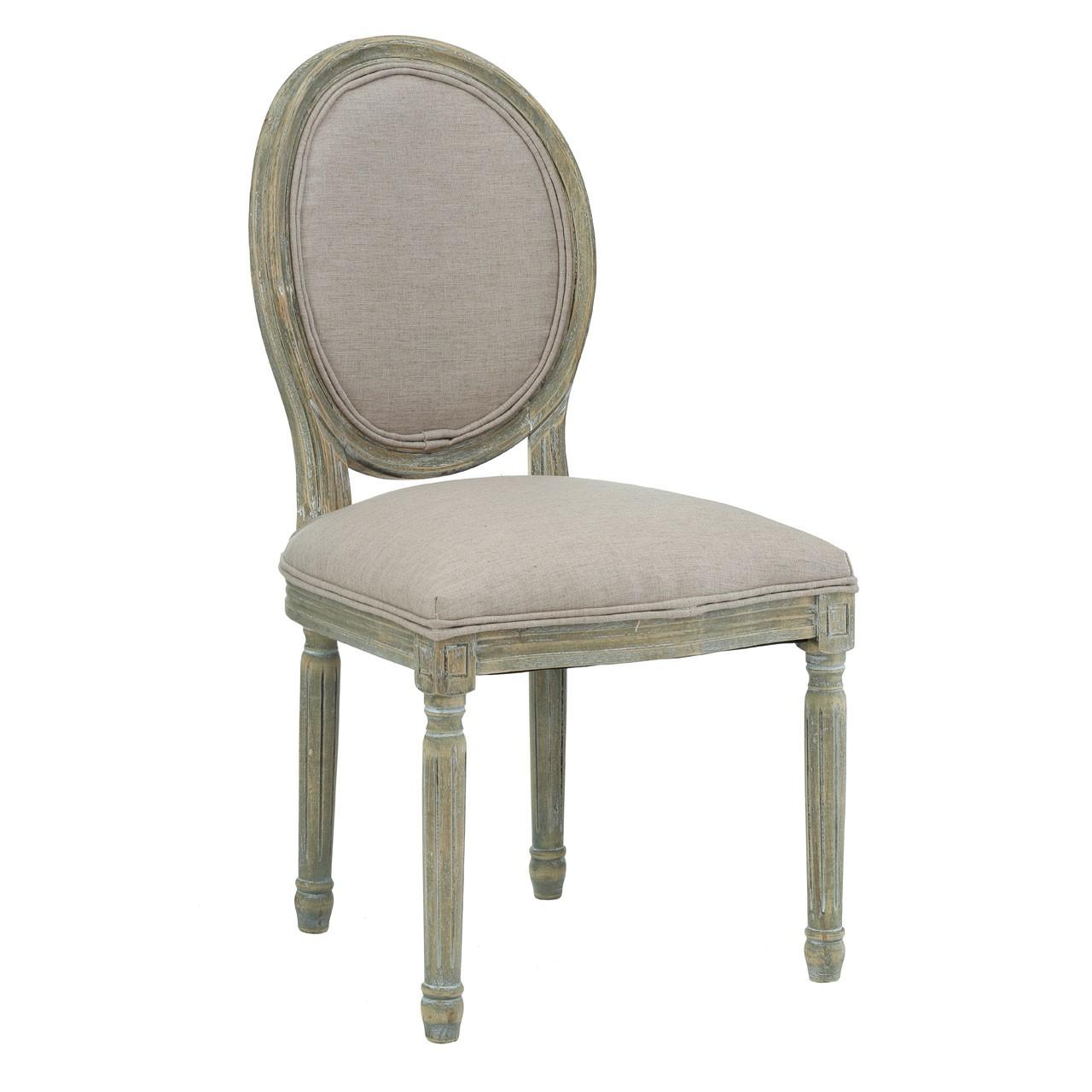 Francois Chair - Grey, Green, Natural and Cream (Colour: Natural)