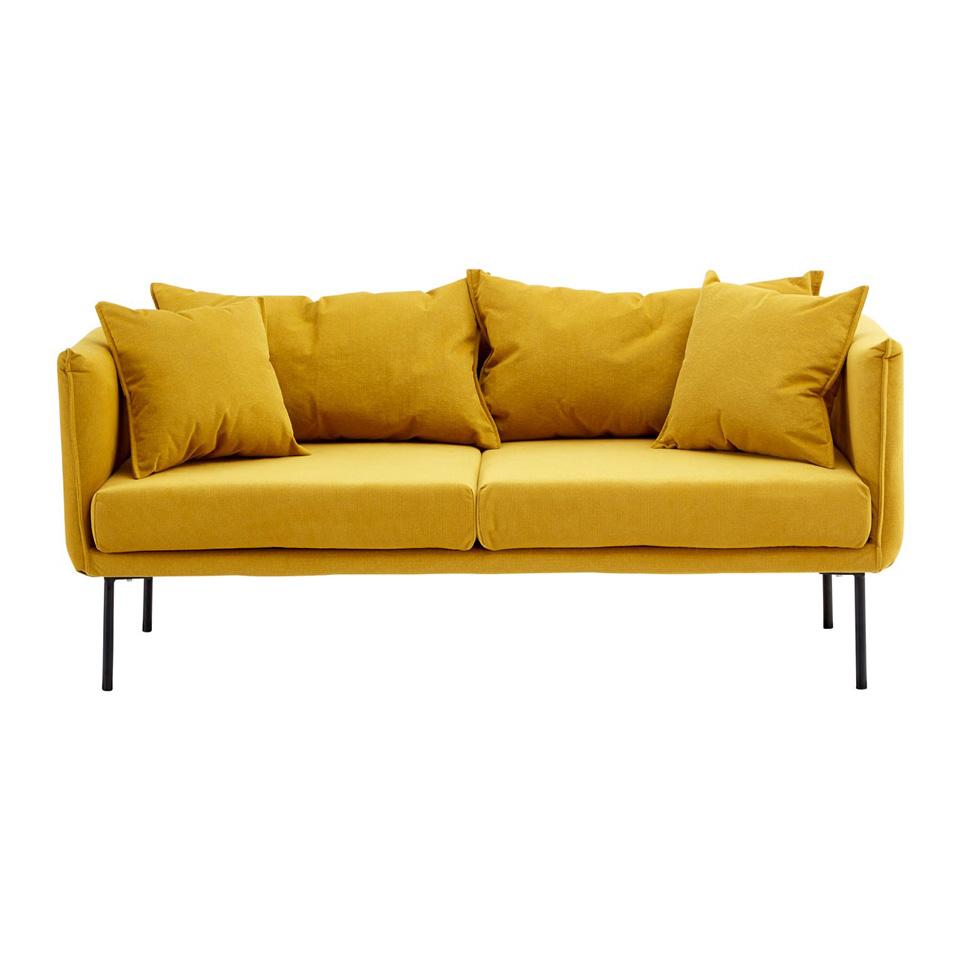 Kolding 2 Seater Sofa (Colour: Yellow)