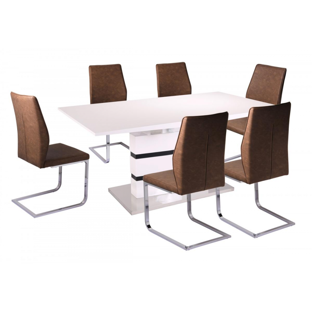 Leona Extending Dining Set and 6 Chairs