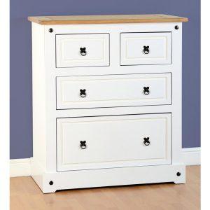 corona white chest - 4 drawers