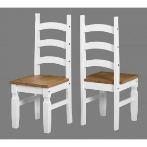 corona white dining chair