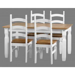 corona white dining set