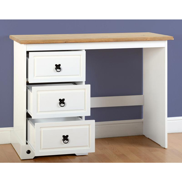 corona white dressing table drawers open