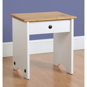 corona white dressing table stool