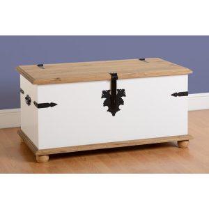 corona white single storage chest