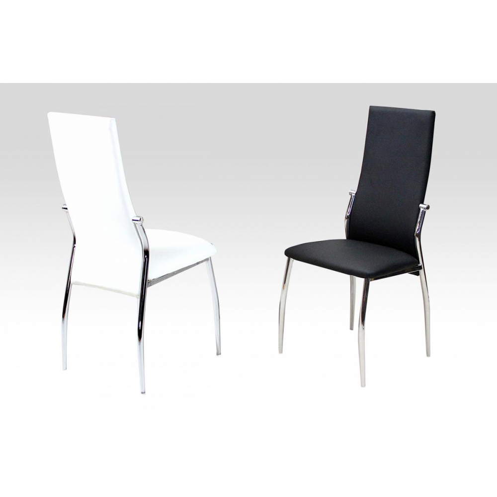 Lazio Dining Chair (Pair) (Chair Colour: Black)